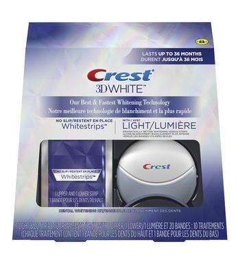Crest Whitestrips avec Lumière