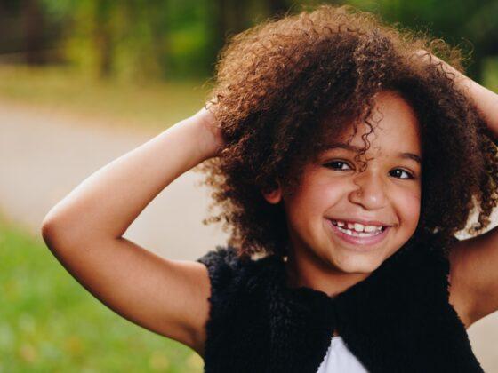 Probiotics: Child posing
