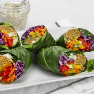 Wrap Recipe: Collard Green Falafel Rainbow Wraps