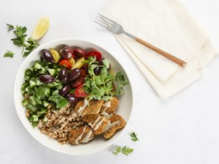 Meatless Mondays: Mediterranean 'chickn' bowl