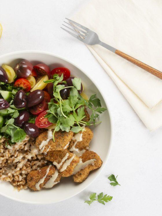 Meatless Mondays: Mediterranean 'chickn' bowl