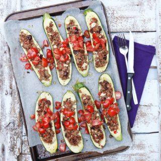 Veal - Greek Stuffed Zucchini