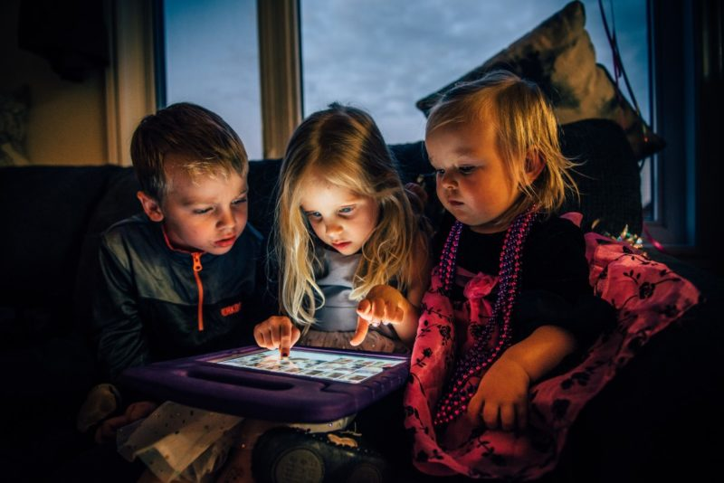 Screen Time with 3 Children