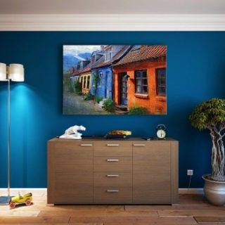 Colours: Blue Painted Room