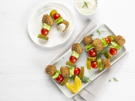 Bouchées de kébab au falafel