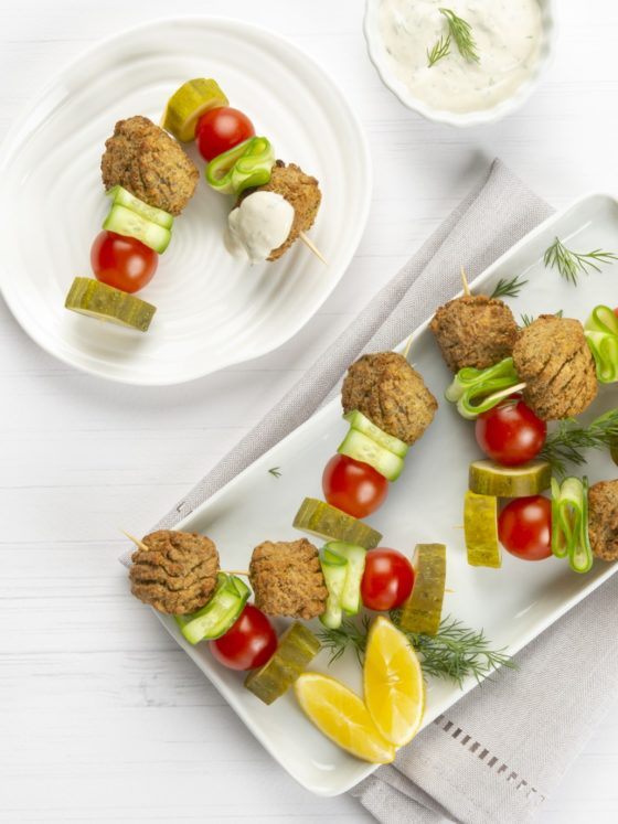 One Bite Falafel Kebabs