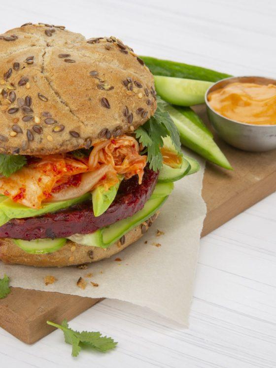 Kimchi Beet Burger