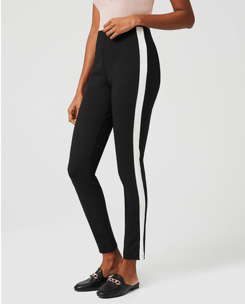 Online Shopping: Le Chateau Black Pants with White Stripe