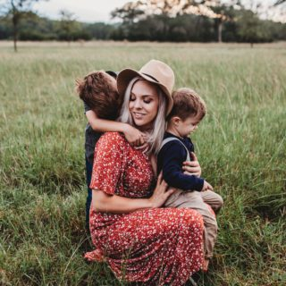 Mother's Day: Woman with two kids