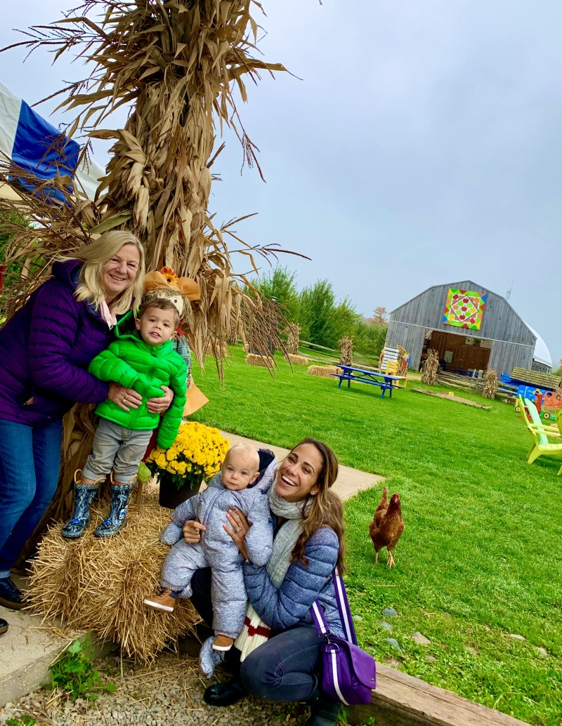 Natalie Preddie: Outdoors with her Mom and Kids