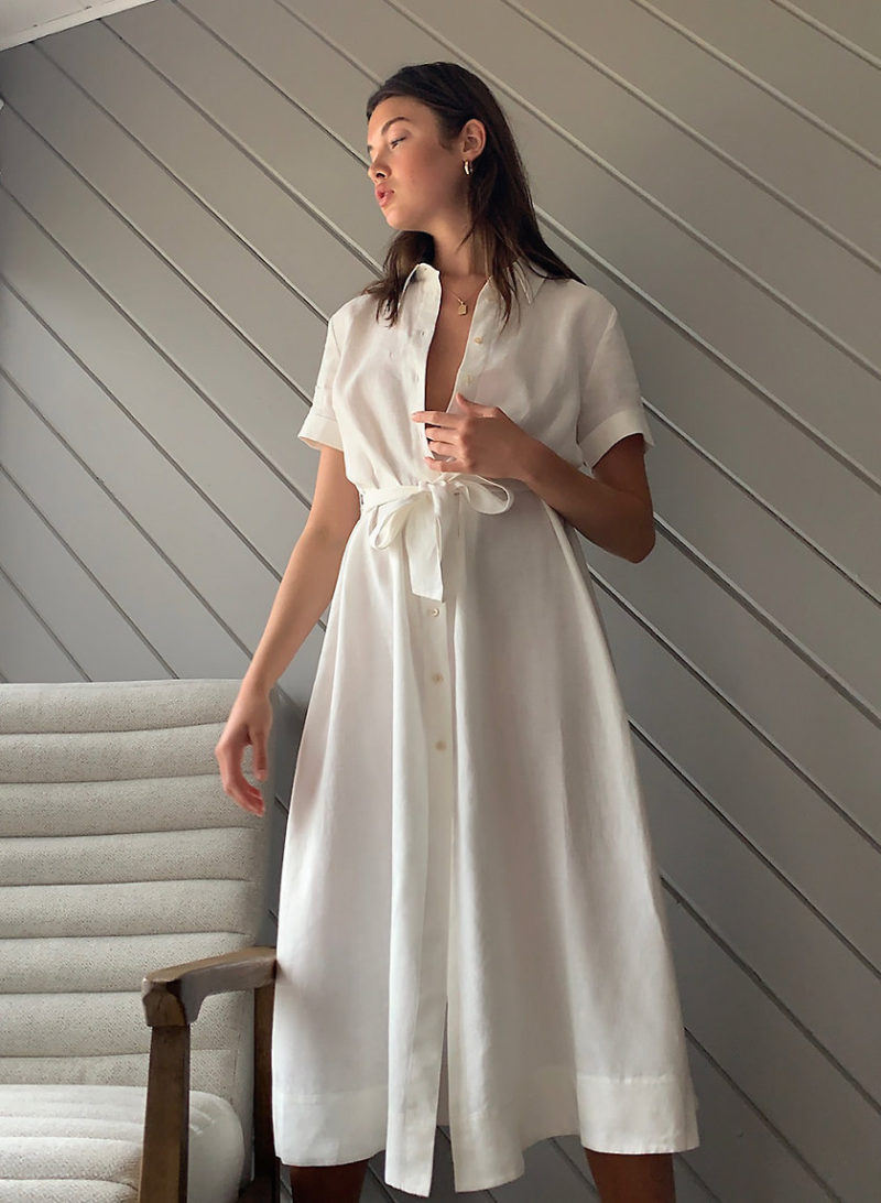 Dresses: White Shirt Dress