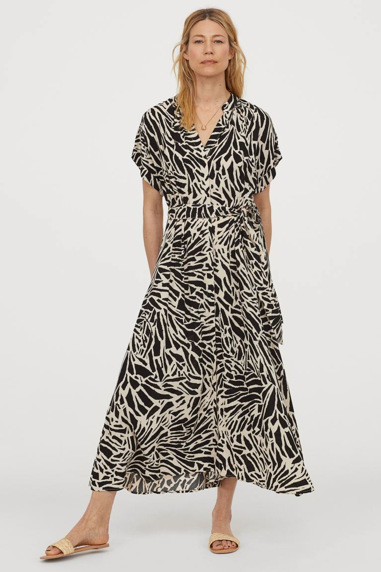 Dresses: Short Sleeved Zebra Maxi