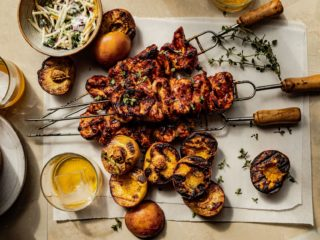 Turkey Peach Skewers