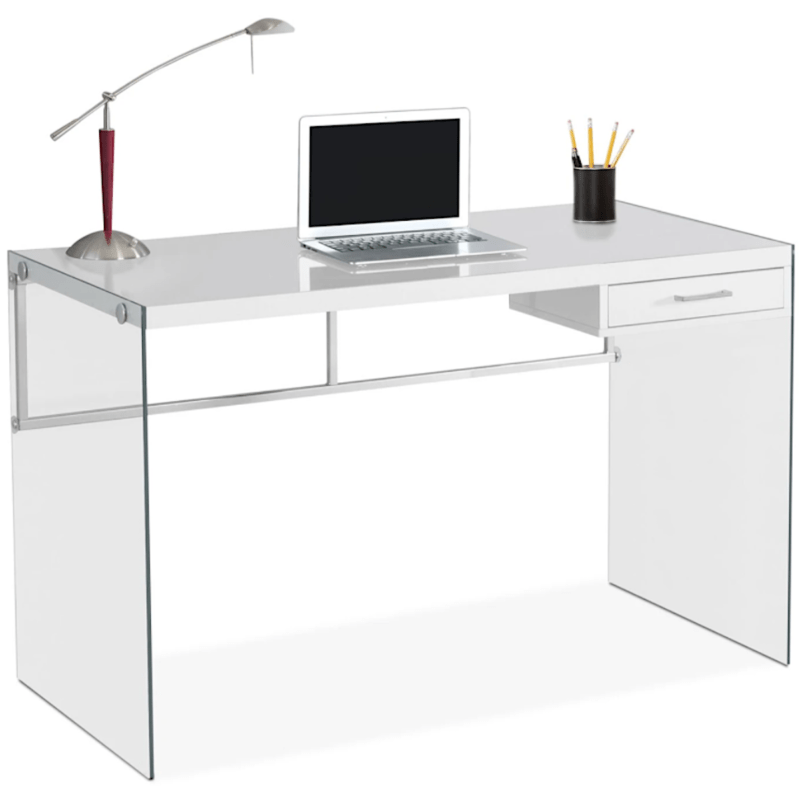Glass Desk Contemporary Decor furniture.ca