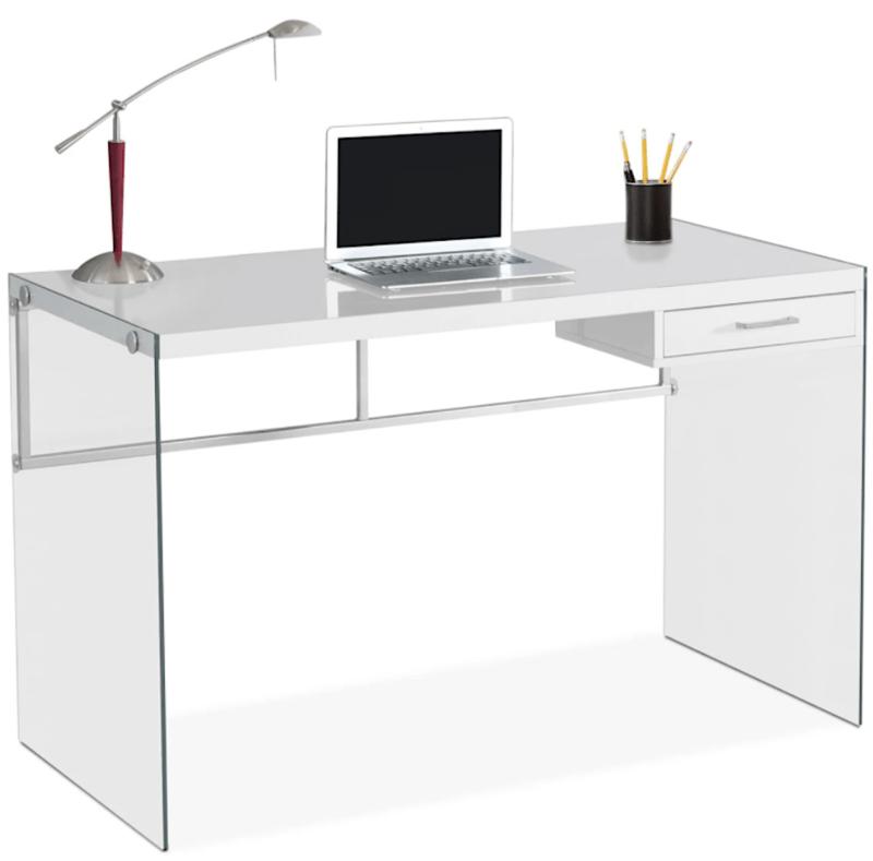 Glass Desk Contemporary Decor furniture.ca