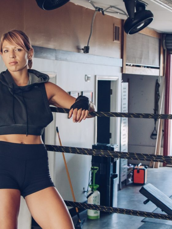 Goal Setting: Krista Stryka in a boxing ring