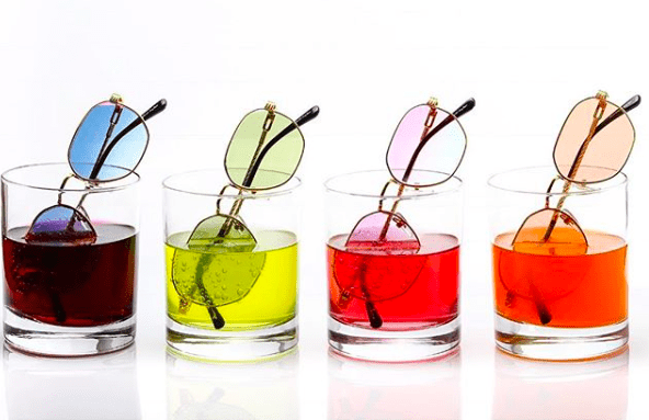 Designer Glasses: Shades with different colour glasses
