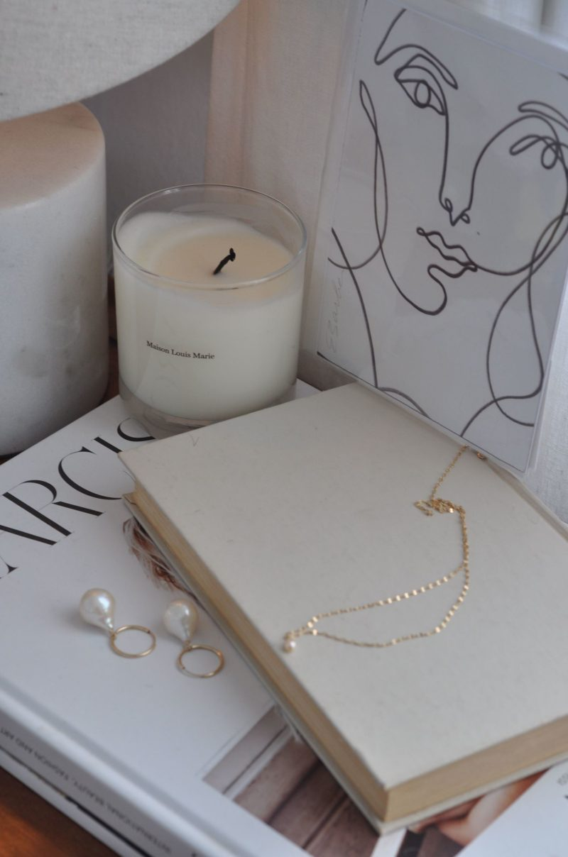Fleuri Jewelry: Pearl Pendant and Earrings