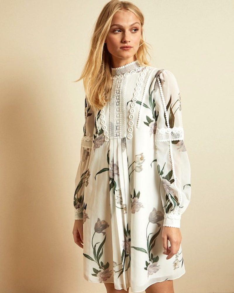 Floral Smock Dress Fall Fall 2020 Fashion