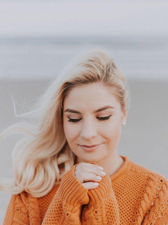 Multiple Sclerosis: Woman in Orange Sweater