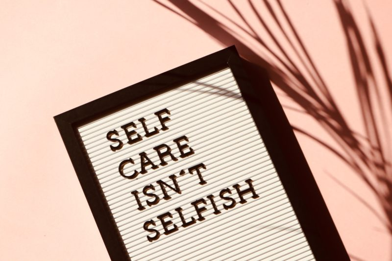Self-Care: Sign