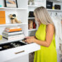 Walk-In Closet: Caroline Elie looking in a drawer