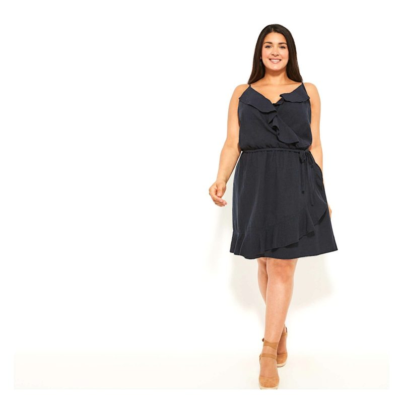 Fall Basic Dress with Ruffles