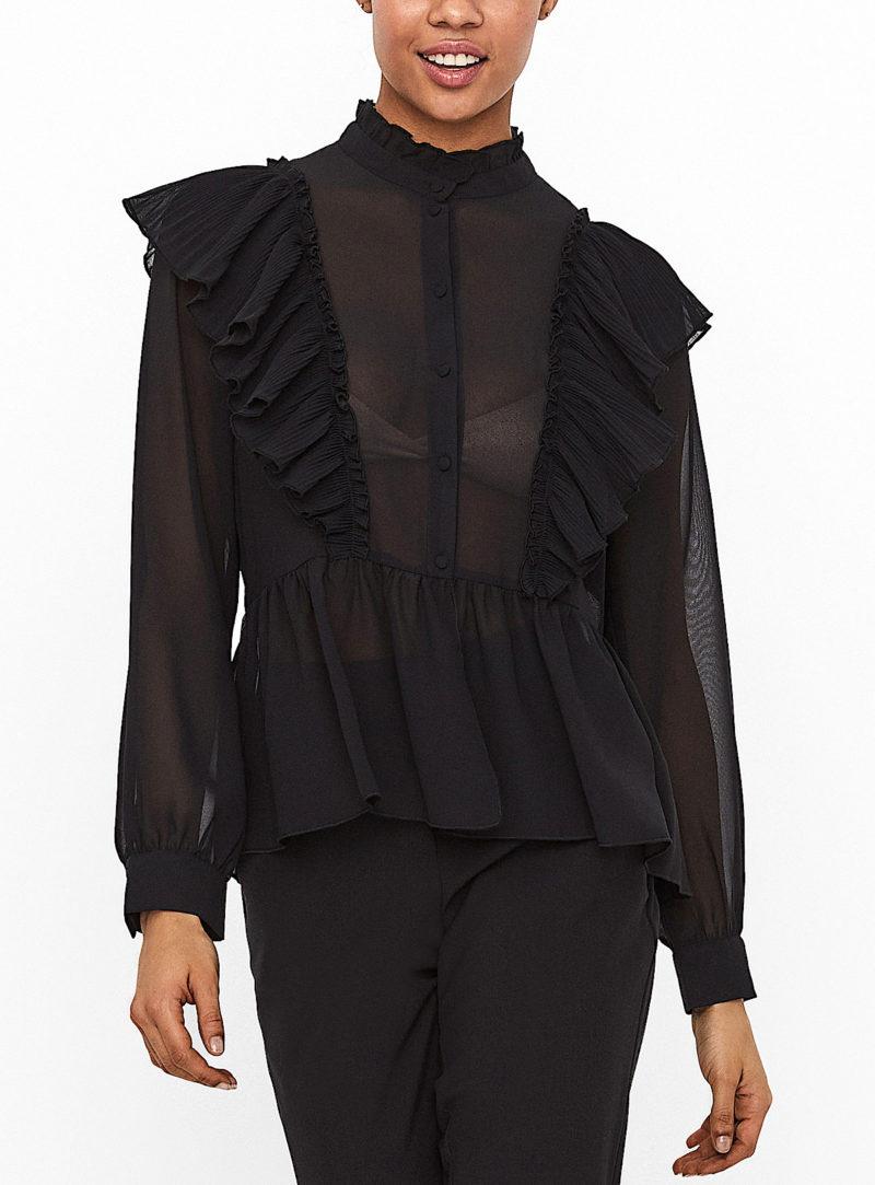 Sheer Ruffle Blouse Fall fashion