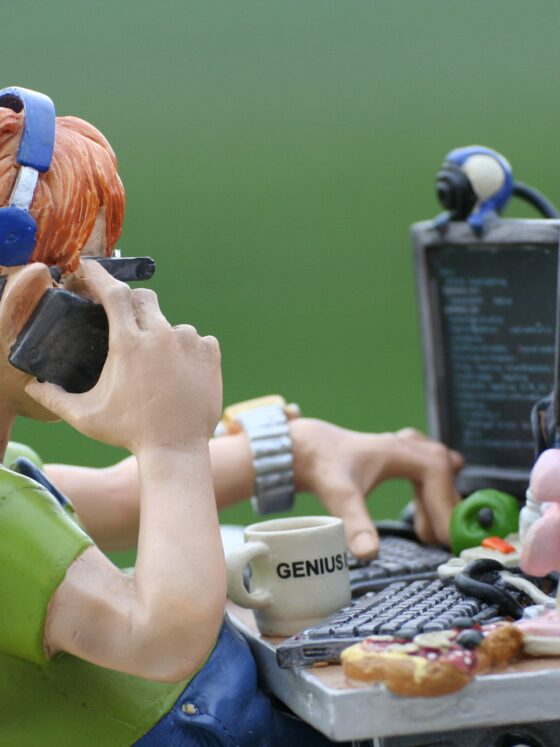 Distraction: Claymation Man at Desk