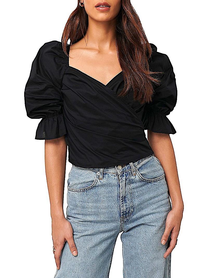 Fall Wear All Black NA-KD blouse