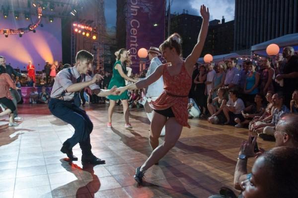 Dance Adventures: Couple dancing the Lindy Hop