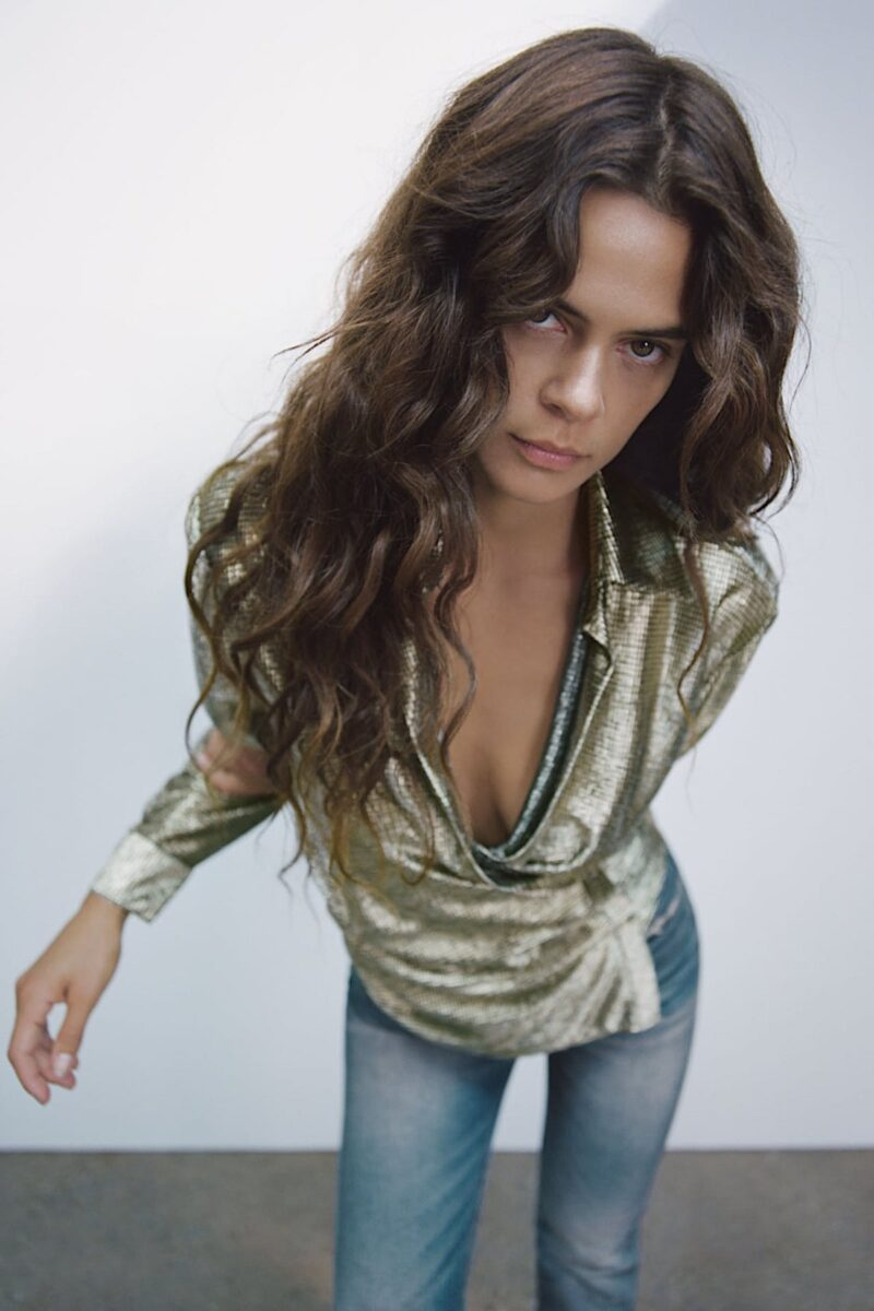 Festive Chic Fashion Metallic top