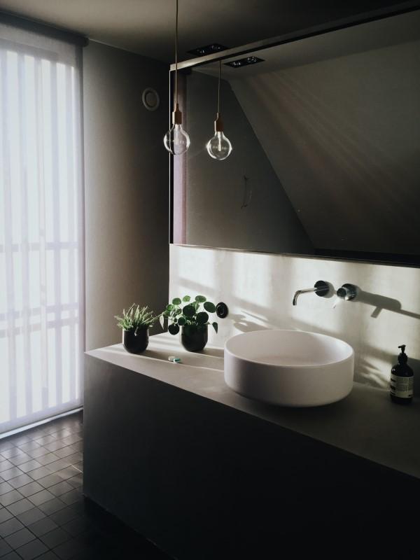 Basics of Flooring: Bathroom sink and tiled floor